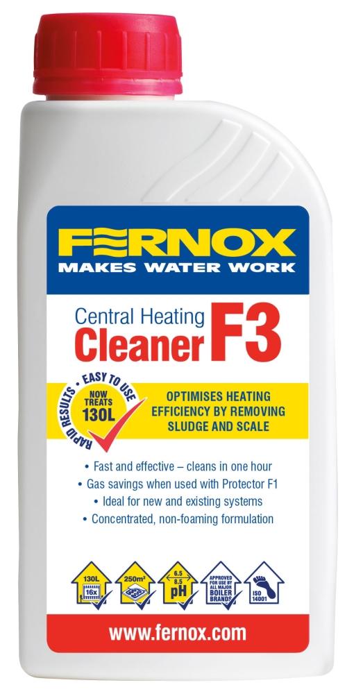 Fernox Dark Amber Central Heating Cleaner, 500 ML Bottle, Liquid