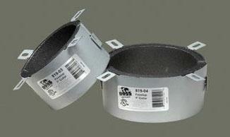 "Boss Products Firestop Sealant Pipe Collar (24 per Box), 4"" L, 22 Galvanized Gauge Steel"