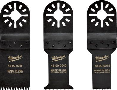 "Milwaukee Tool Blade Kit for Multi-Tool Blade (3 per Pack), 3.75"", Wood with Nail, Non-Ferrous Metal and PVC Cutting Material, Universal"