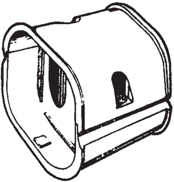 Inaba Slimduct SJ-77-I - Coupler (10/Case)