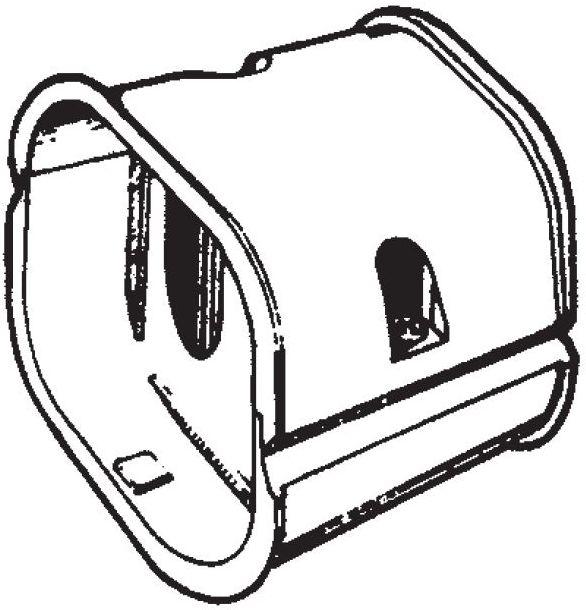 Inaba Slimduct SJ-100-I - Coupler (10/Case)