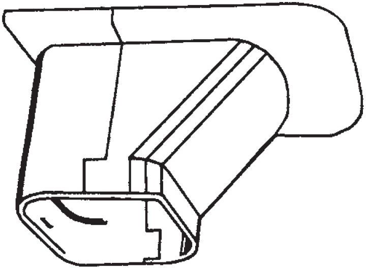 Inaba Slimduct SP-100-I - Soffit Inlet (10/Case)