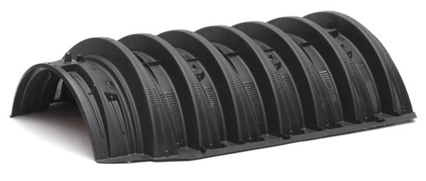 """53"""" x 34"""" x 12"""", 16000 Lb Wheel Load, 43 Gallon, Standard Trench Drain Chamber with Multi-Port End Cap"""