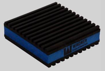 "DiversiTech E.V.A.  Anti-Vibration Pad - 6"" x 6"" x"