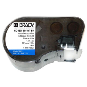Brady MC-1500-595-WT-BK