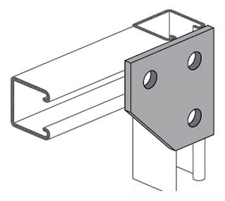 pws PS744-EG PWS FLAT CORNER CONNECTOR (721061)