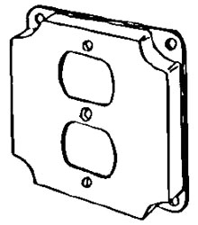 APL 8365N EGS 4SQ COVER F/1 DUPLEX BOLTED
