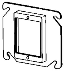 APL 8468A EGS 4SQ 1G 1/2 RAISE PLASTER RING