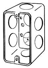 APL 4CS-3/4 EGS HANDY BOX 4X2-1/8 1-7/8D 3/4 KOS DRAWN