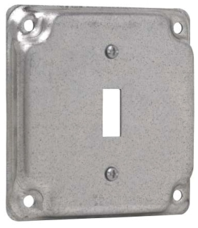 THP TP512 THP 4SQ COVER F/ 1 TOGGLE SWITCH