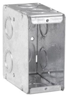 THP TP690 THP 1G MASONRY BOX 3-1/2D 1/2&3/4KO