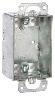 RAC 410 RAC BOX 1G 1-1/2D W/EARS & CLAMPS