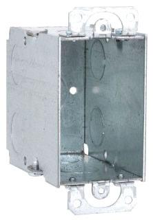 RAC 590 RAC BOX 1G 3-1/2D GANGABLE W/EARS 1/2 KO
