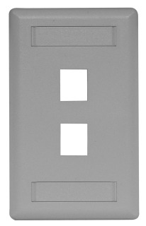 HPW IFP12GY HPW 2-PORT FACE PLATE GRAY