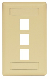 HPW IFP13EI HPW 3-PORT FACE PLATE IVORY