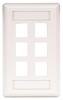 HPW IFP16W HPW 6-PORT FACE PLATE WHITE