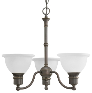 prg P4280-20 PRG 3-100 ANT BRZ ETCH CHANDELIER