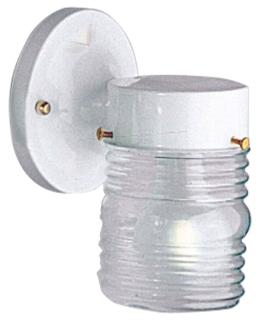PRG P5602-30 PRG 1-75W WH CL GLASS JAR OUT WALL