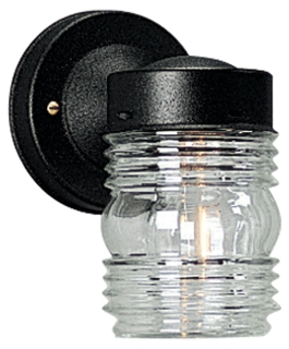 prg P5602-31 PRG 1-75 BLK/CL GLASS JAR OUT WALL