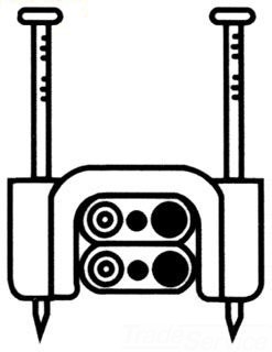 SBP RA1588-2 SBP STAPLES 1/2 2-2WIRE STACKED (TAN)