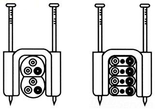 SBP RA1588-4 SBP STAPLES 1/2 4-2WIRE STACKED (WHITE)