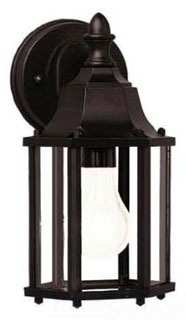 KIC 9774BK KIC 1/60 BLACK W/CLEAR BEV GLASS OUTDOOR WALL MOUNT