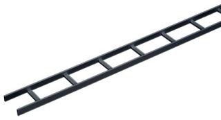 HDE LSS12BLK HDE LADDER RACK STRAIGHT SECTION 12.00X120.00 STEEL/BLACK