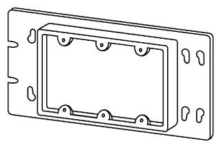 APL 3GC75N EGS 3 GANG 3/4 RAISE PLASTER RING