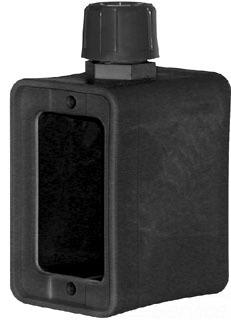 ERC 6130B ERICSON 6100 SERIES WEATHER RESISTANT PORTABLE OUTLET STANDARD DEPTH BOX BLACK