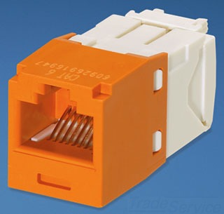 PAN CJ688TGOR PANDUIT CAT6 MINI-COM JACK ORANGE
