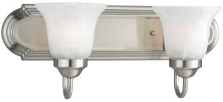 prg P3052-09EBWB PRG 2-13W CFL BATH BRKT