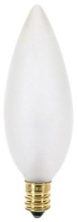 SAT S3285 SAT 25BA9-1/2/F 25W BA9-1/2 CAND BASE FROST TORPEDO LAMP