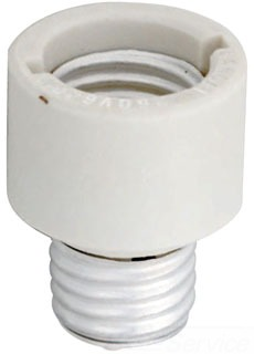 DAM 19199 DAMAR PORCELAIN SOCKET EXTENSION MEDIUM TO MEDIUM E26 TO E26