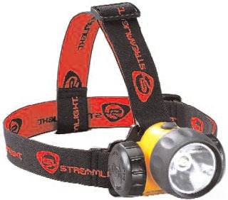 STF 61200 STREAMLIGHT 3AA HAZ-LO WITH ALKALINE BATTERIES. RUBBER & ELASTIC STRAPS. YELLOW