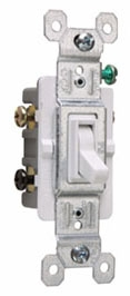 PAS 663-WG PAS SW 3WAY 15A 120V W/ GRD WHITE