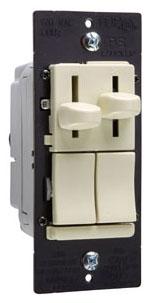 PAS LSDC163-PIV PAS SLIDE DIMMER SP/3W 300W W/PRESET & DE-HUMMER FAN CONTROL IV