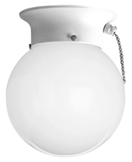 PRG P3605-30SW PRG 1-60 WHITE GLOBE W/ PULLCHAIN