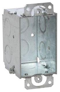 RAC 500 RAC BOX 1G 2-1/2D 1/2 KO W/EARS