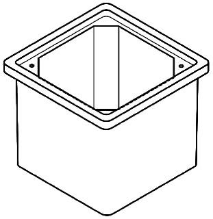 QUA PC1212BA12 QUA BOX OPEN BOTTOM 12X12X12