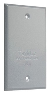 TAY BC100S TAY 1G COVER WP BOX BLANK GRAY