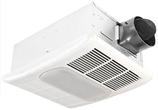 DEL RAD80L DEL 80CFM HEAT/FAN/LIGHT 1.3 SONES FAN 26W GU24 CFL LAMP