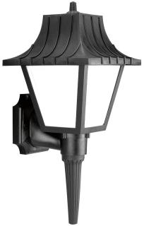 prg P5843-31WB PRG 1-18W GU24 CFL WALL LANTERN