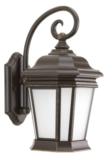 prg P5686-108 PRG 1/26GU24 ORB W/ETCHED FLAT GLASS OUTDOOR WALL MOUNT