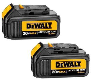 dwt DCB200-2 DEWALT 20V MAX LI-ION BATTERY 2-PACK (3.0 AH)