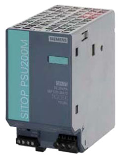 SIE 6EP1334-3BA10 SIE SITOP PSU200M 10A STABILIZED POWER SUPPLY INPUT 120/230-500VAC OUTPUT 24VDC
