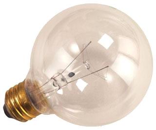 hlc 5007 HLC G25CL100 LAMP 100W G25 CLEAR MED 130V