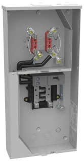 MBK U5168-XTL-200-KK MBK METER SOCKET 200A 1PH W/MCB OH/UG 8 BREAKER SPACES HORN BYPASS 2/HUB OPENINGS