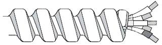 FLEX 10-2WGMC 250' BLK-WHT-GRN ARMORLITE MC CABLE 10/2 WG (250') SOLID