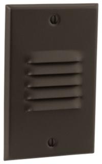 prg P6828-2030K PRG 4W LED ANTIQUE BRONZE LOUVERED VERTICAL STEP/WALL LIGHT