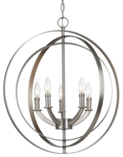prg P3841-126 PRG 5-60W CAND FOYER PENDANT Gray